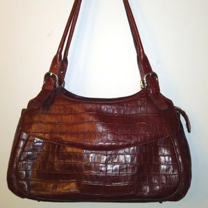 Embossed Leather Shoulder Bag, Never Carried